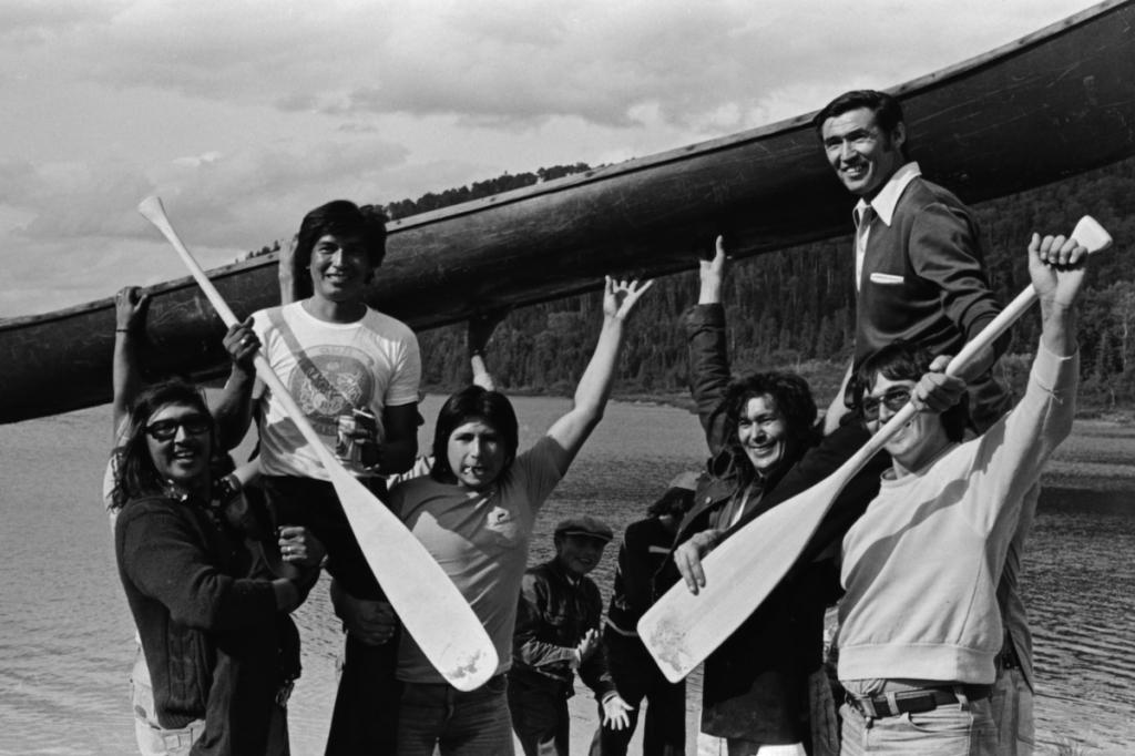 Gagnants de la course en canot