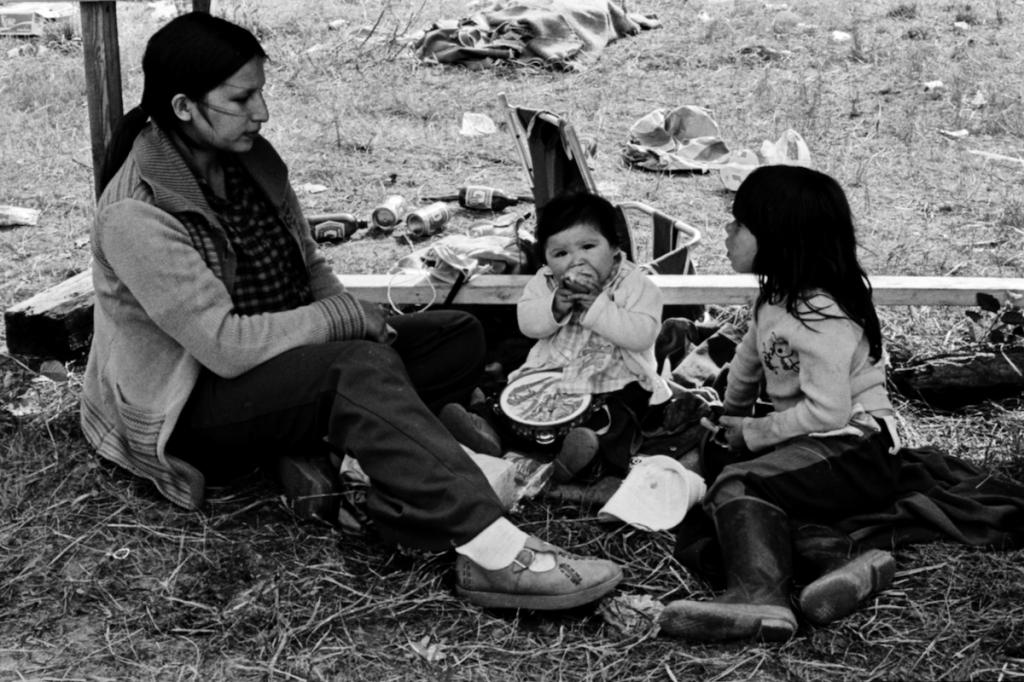 Mère et enfants rassemblement Wemotaci