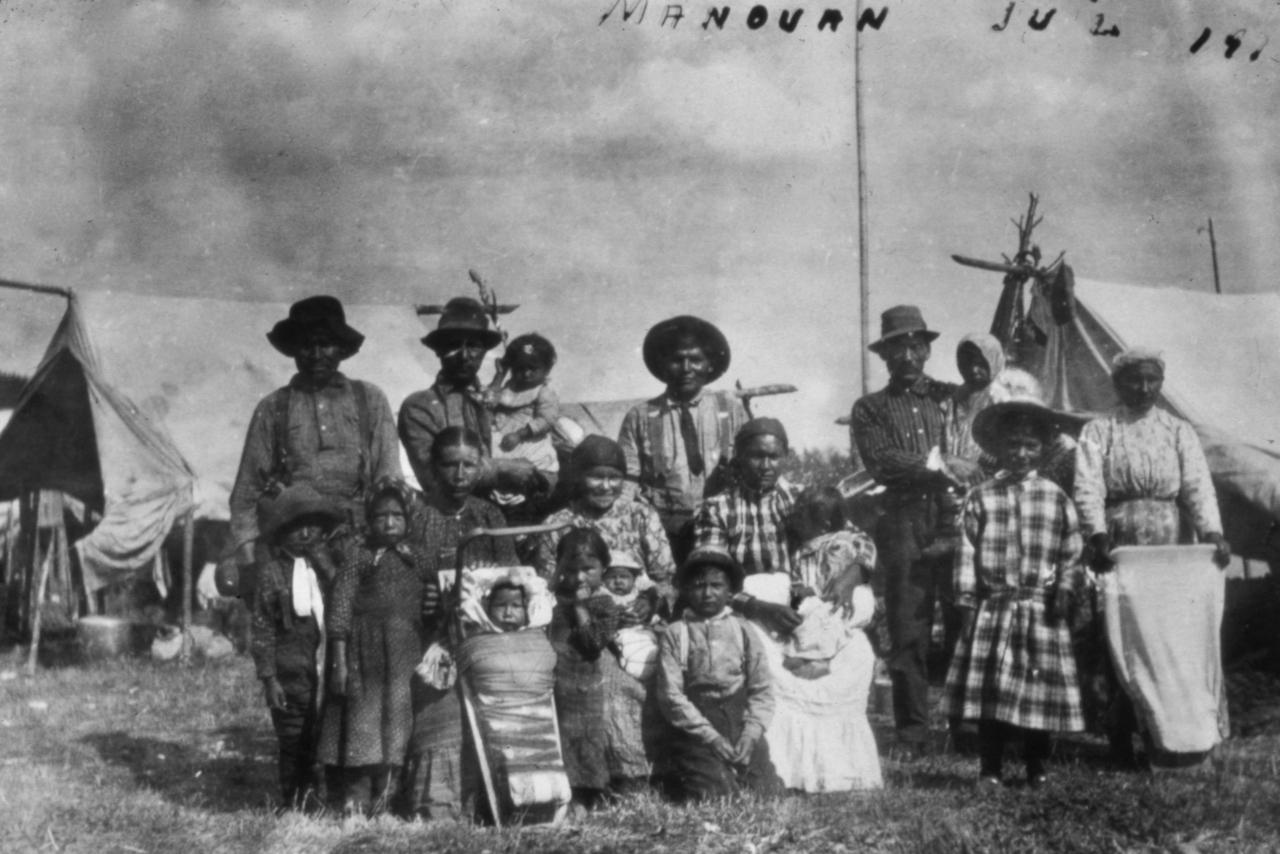 Rassemblement d'Atikamekw 1916